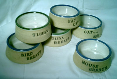 Custom Cat/Dog dishes