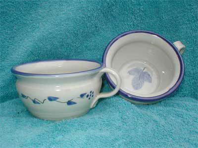Soup Bowl/New Blue Leaf